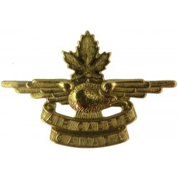 Canadian Air Cadets - 1st Pattern Cap Badge No Crown Or Wreath  Brass Foreign Air Force insignia