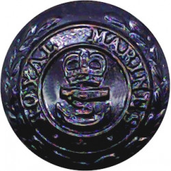 Royal Marines 17mm with Queen Elizabeth's Crown. Bronze Military uniform button