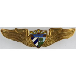 Cuba Air Force Pilots Wings Pre-1959  Gilt and enamel Foreign Air Force insignia