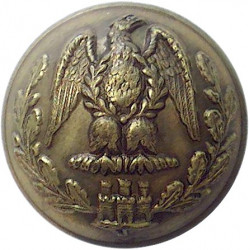 Royal Irish Fusiliers 19.5mm Brass Military uniform button