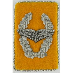 German Air Force - Wings In Wreath - Collar Tab Officers  Bullion wire-embroidered Foreign Air Force insignia