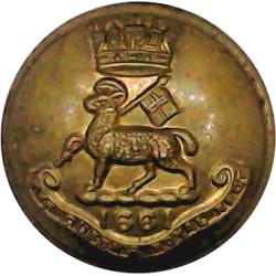 Queen's Royal Regiment (West Surrey) 19mm - 1909-1959  Brass Military uniform button