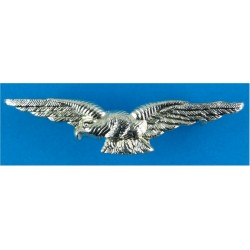 RAF Aircrew Arm Eagle FL - Gold Colour  Anodised Air Force Branch Badge