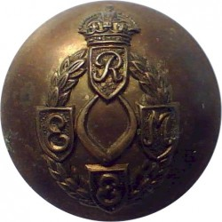 10th Princess Mary's Own Gurkha Rifles 23mm - Black  Plastic Military uniform button