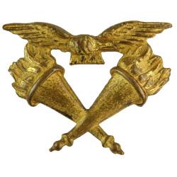 Royal Air Force Education Branch - 1940-1948 Collar Badge  Gilt Air Force Branch Badge