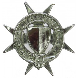 Malta Police Cap Badge 1964-1984  Chrome-plated Overseas Police, Prison or Corrections insignia