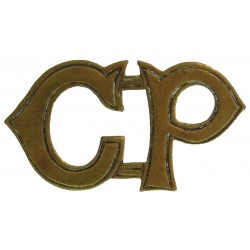 CP (Cape Police) Shoulder Title - South Africa Boer War To 1910  Brass Overseas Police, Prison or Corrections insignia