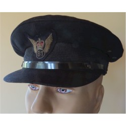 Board Of Trade Flying Unit Peaked Cap & Badge 1967-1972 with Queen Elizabeth's Crown. Bullion wire-embroidered Hat, cap or helme