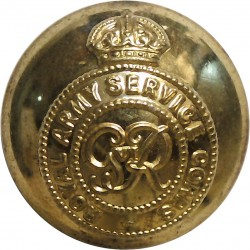 Royal Army Service Corps - GviR 25mm - 1936-1952 with King's Crown. Brass Military uniform button