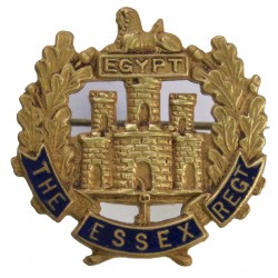Essex Regiment   Gilt and enamel Lapel or sweet-heart badge