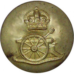 Royal Artillery 23mm with King's Crown. Brass Military uniform button