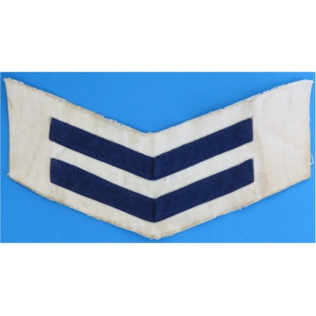 Royal Navy Good Conduct Chevrons (2 Bar - 8 Years) Blue On White  Braid Naval Branch, rank or miscellaneous insignia