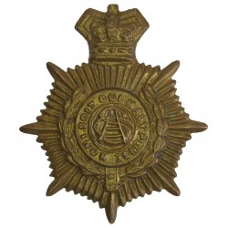 Army Service Corps 1888-1901 with Queen Victoria's Crown. Brass Other Ranks' collar badge