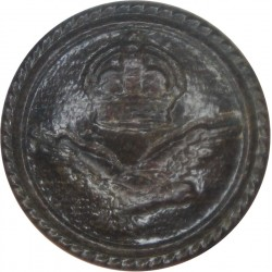 Royal Naval Air Service - WW1 Economy Issue - Rare 23.5mm with King's Crown. Leather Military uniform button