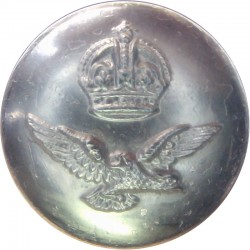 Royal Air Force - For Officers Tropical Khaki Dress 25.5mm - Black with King's Crown. Brass Military uniform button