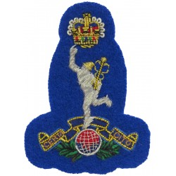 94 (Berkshire Yeomanry) Signal Squadron Jimmy On Royal Blue with Queen Elizabeth's Crown. Bullion wire-embroidered Officers' cap