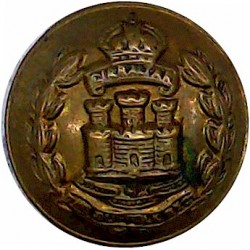 New Zealand Forces 17.5mm  Brass Military uniform button