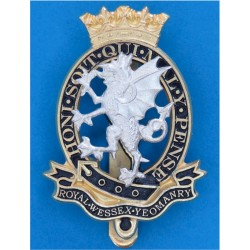 Royal Wessex Yeomanry New Badge  Silver-plated, gilt and enamel Other Ranks' metal cap badge