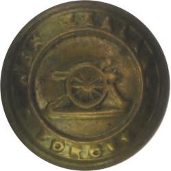 New Zealand Artillery 13mm - Rubbed  Brass Military uniform button