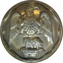 Canada - General Service Button 25.5mm - 1924-1946 King's Crown. Brass Military uniform button