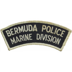 Bermuda Police / Marine Division Shoulder Title  Embroidered Overseas Police, Prison or Corrections insignia