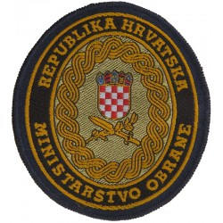 Croatian Ministry Of Defence - Ministarstvo Obrane Republika Hrvatska  Woven Balkan War memorabilia