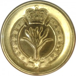 Welsh Guards 19.5mm with Queen Elizabeth's Crown. Gilt Military uniform button