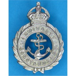 Admiralty Constabulary 1949-1952 with King's Crown. Chrome-plated Police or Prisons hat badge