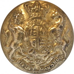 Royal Marines Light Infantry 22mm - 1902-1923 with King's Crown. Brass Military uniform button