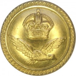 Royal Naval Air Service 23.5mm - WW1 with King's Crown. Gilt Military uniform button