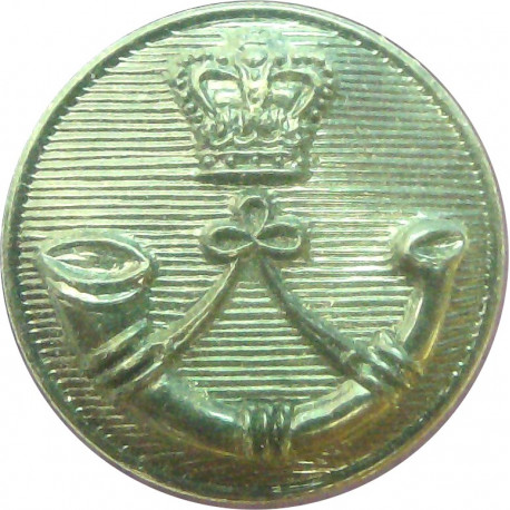 Royal Green Jackets 17.5mm - Black with Queen Elizabeth's Crown. Plastic Military uniform button