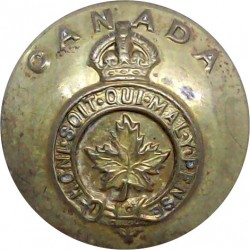 Canada - General Service Button 25mm - 1924-1946 with King's Crown. Brass Military uniform button