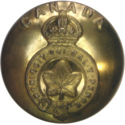 Canada - General Service Button 24.5mm - 1924-1946 with King's Crown. Brass Military uniform button