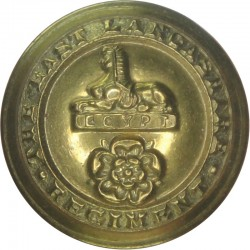 East Lancashire Regiment 25.5mm - 1881-1958  Brass Military uniform button