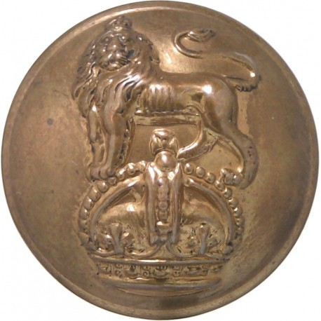 Army Dental Corps - Rimmed 25mm - 1921-1946 with King's Crown. Brass Military uniform button