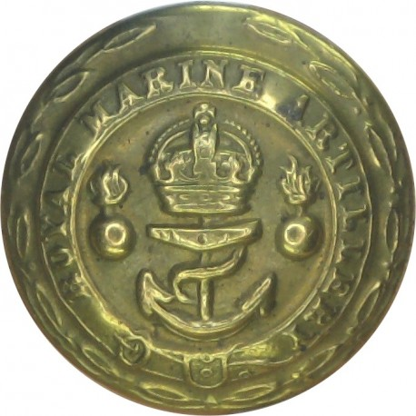 General Service - Royal Arms - Volunteers 24mm - 1902-1908 with King's Crown. White Metal Military uniform button