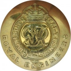 Royal Engineers - GviR 25mm with King's Crown. Brass Military uniform button