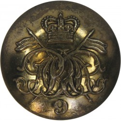 9th Queen's Royal Lancers 23mm - 1952-1960 with Queen Elizabeth's Crown. Brass Military uniform button