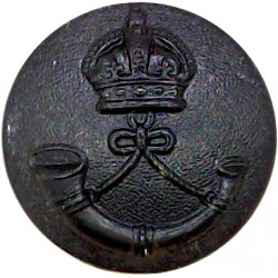 Royal Scots Fusiliers 25.5mm with King's Crown. Brass Military uniform button
