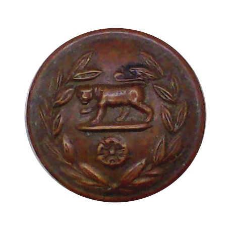 Royal Ulster Rifles - 1953-1968 17mm - Black with Queen Elizabeth's Crown. Horn Military uniform button