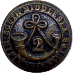 2nd South Middlesex Rifle Volunteer Corps 22.5mm  Bronze Military uniform button