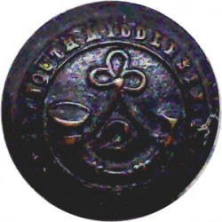 2nd South Middlesex Rifle Volunteer Corps 17mm  Bronze Military uniform button
