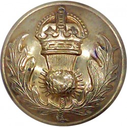 Irish Defence Forces - Army - Harp With Letters IV 25.5mm Brass Military uniform button