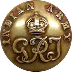 2nd King Edward VII's Own Gurkha Rifles (With Crown) 25mm - Black King's Crown. Plastic Military uniform button