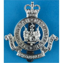 Birmingham City Police Special Constabulary Reserve Cap Badge Pre-1974 with Queen Elizabeth's Crown. Chrome-plated Police or Pri