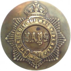 Ayrshire (Earl of Carrick's Own) Yeomanry 25.5mm King's Crown. Brass Military uniform button
