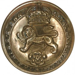 King's Own (Royal Lancaster Regiment) 26mm - 1901-1920 with King's Crown. Brass Military uniform button