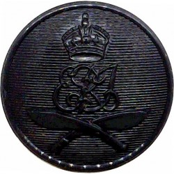 2nd King Edward VII's Own Gurkha Rifles (With Crown) 25mm - Black with King's Crown. Plastic Military uniform button