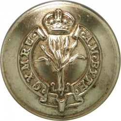 Welsh Guards 20mm with King's Crown. Brass Military uniform button