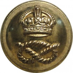 South Staffordshire Regiment 19mm with King's Crown. Brass Military uniform button